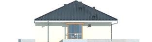 Projekt domu Franczi II G1 - elewacja lewa