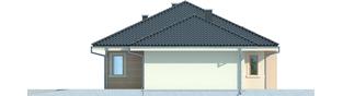 Projekt domu Franczi II G1 - elewacja prawa