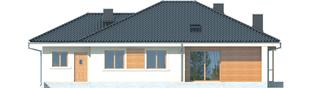 Projekt domu Franczi II G1 - elewacja tylna
