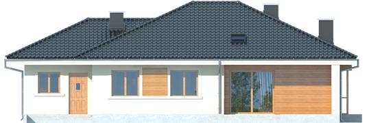 Francis II G1 - Projekt domu Franczi II G1 - elewacja tylna