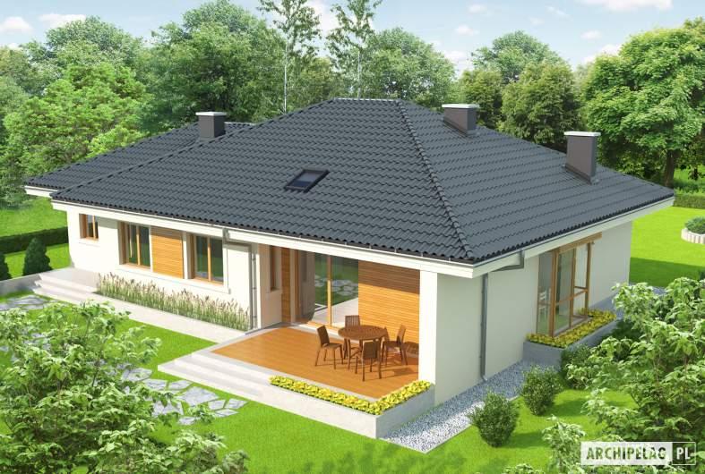 Projekt domu Franczi II G1 - widok z góry