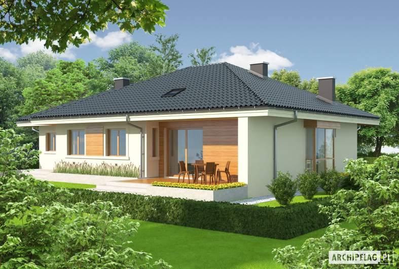 Projekt domu Franczi II G1 - wizualizacja ogrodowa