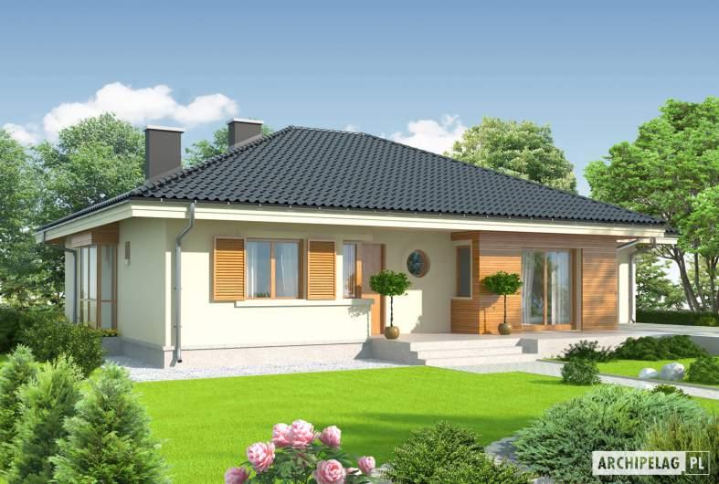 Projekt domu Franczi II G1 - wizualizacja frontowa