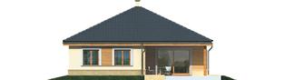 Projekt domu Harold - elewacja tylna