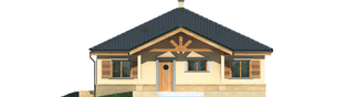 Projekt domu Harold - elewacja frontowa