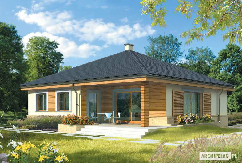 Projekt domu Harold - Projekty domów ARCHIPELAG - Harold - wizualizacja ogrodowa