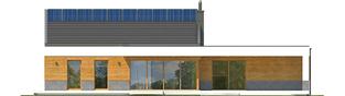 Projekt domu EX 11 G2 (wersja D) ENERGO PLUS - elewacja tylna
