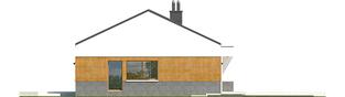 Projekt domu EX 11 G2 (wersja D) ENERGO PLUS - elewacja prawa