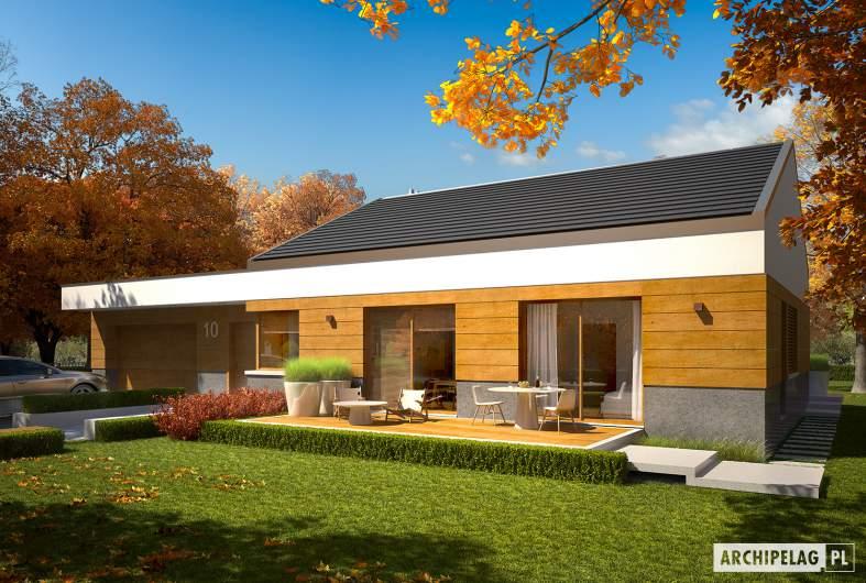 Projekt domu EX 11 G2 (wersja D) - wizualizacja frontowa