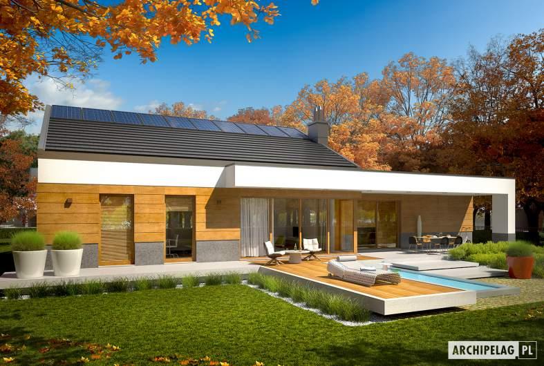 Projekt domu EX 11 G2 (wersja D) - wizualizacja ogrodowa