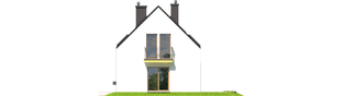Projekt domu E2 ECONOMIC (wersja A) - elewacja prawa