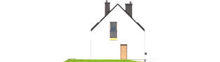 Projekt domu E2 ECONOMIC (wersja A) - elewacja lewa