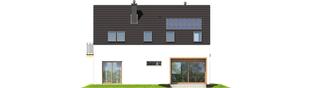 Projekt domu E2 ECONOMIC (wersja A) - elewacja tylna