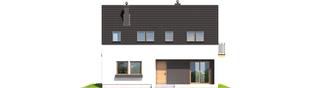 Projekt domu E2 ECONOMIC (wersja A) - elewacja frontowa
