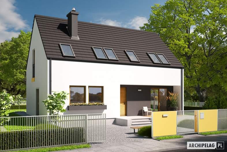Projekt domu E2 ECONOMIC (wersja A) - wizualizacja frontowa
