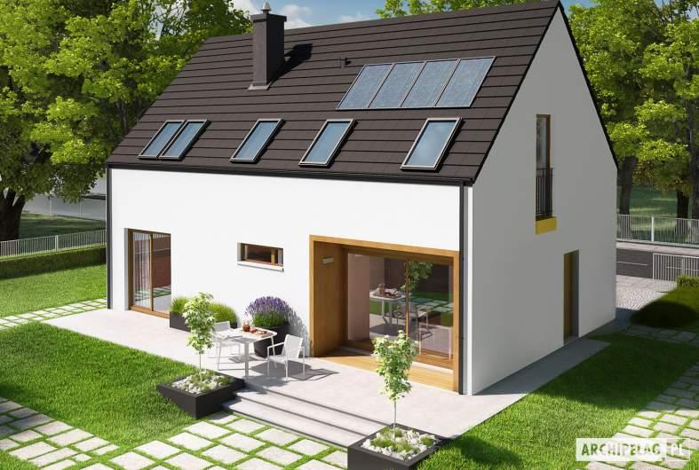 Projekt domu E2 ECONOMIC (wersja A) - widok z góry