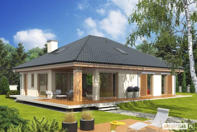 Projekt domu Andrea - wizualizacja ogrodowa
