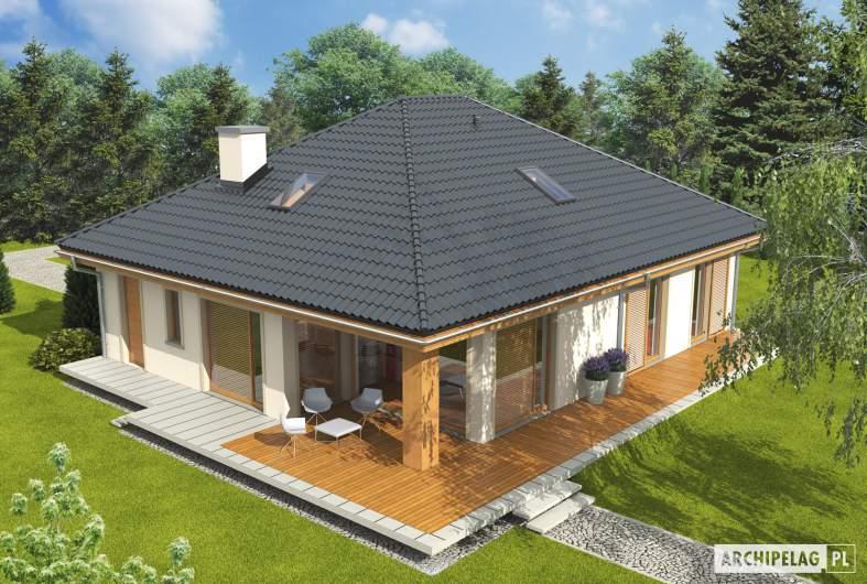 Projekt domu Andrea - widok z góry