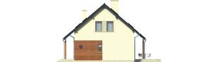 Projekt domu Robin - elewacja prawa