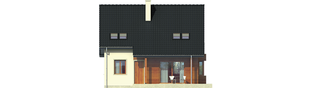 Projekt domu Robin - elewacja tylna