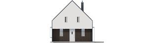 Projekt domu EX 13 soft - elewacja frontowa