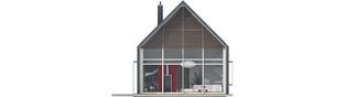 Projekt domu EX 13 soft - elewacja tylna