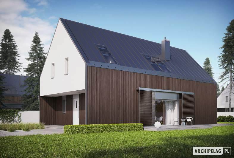 Projekt domu EX 13 soft - wizualizacja frontowa