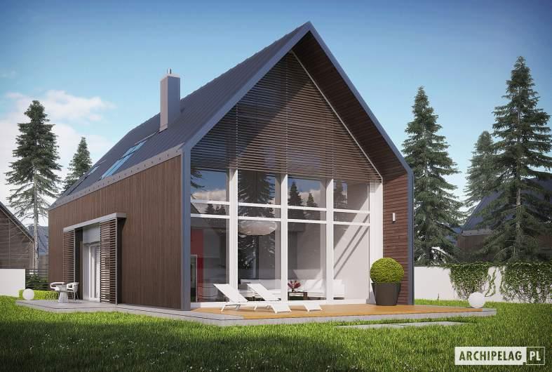 Projekt domu EX 13 soft - wizualizacja ogrodowa