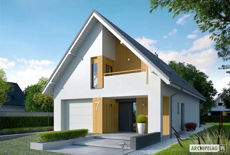 Projekt domu Riko II G1 - wizualizacja frontowa
