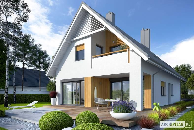 Projekt domu Riko II G1 - wizualizacja ogrodowa