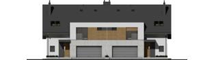 Projekt domu Wiktor G2 (bliźniak) - elewacja frontowa