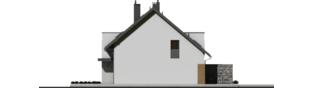 Projekt domu Wiktor G2 (bliźniak) - elewacja prawa