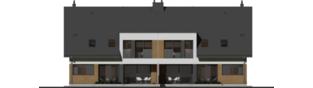 Projekt domu Wiktor G2 (bliźniak) - elewacja tylna