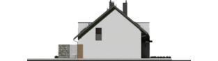 Projekt domu Wiktor G2 (bliźniak) - elewacja lewa