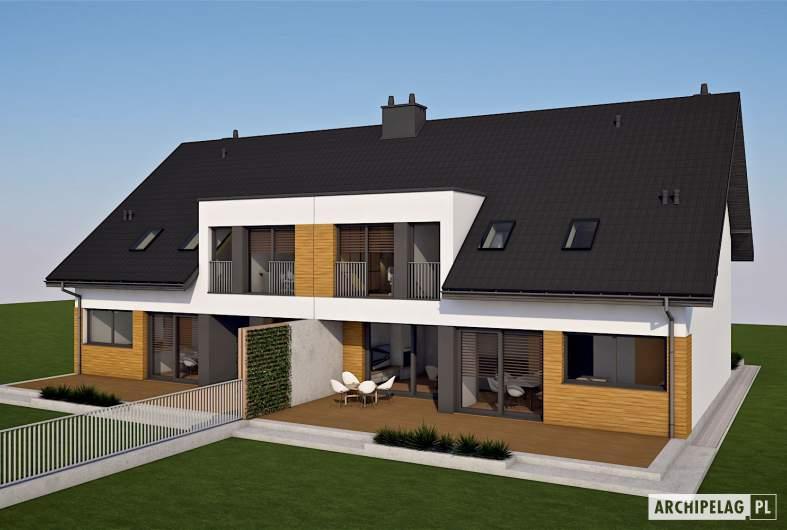Projekt domu Wiktor G2 (bliźniak) - wizualizacja widok z góry