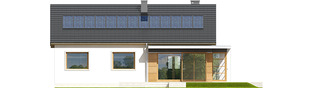 Projekt domu Emi MULTI-COMFORT - elewacja tylna