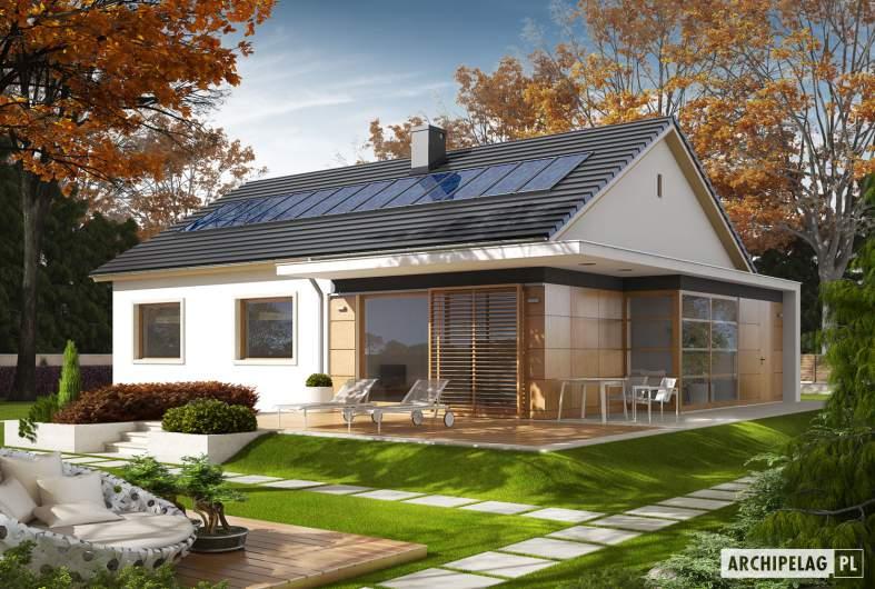 Projekt domu Emi  MULTI-COMFORT - wizualizacja ogrodowa