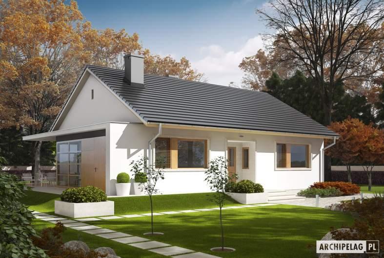 Projekt domu Emi  MULTI-COMFORT - wizualizacja frontowa