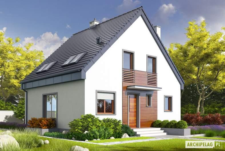 Projekt domu Adriana II - Projekty domów ARCHIPELAG - Adriana II - wizualizacja frontowa