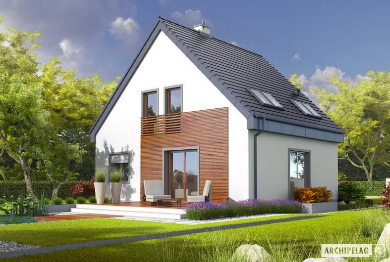Projekt domu Adriana II - Projekty domów ARCHIPELAG - Adriana II - wizualizacja ogrodowa