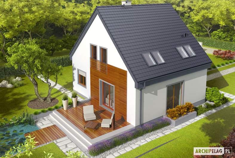 Projekt domu Adriana II - Projekty domów ARCHIPELAG - Adriana II - widok z góry