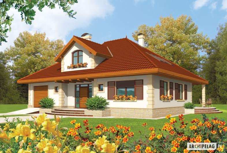 Projekt domu Fifi G1 - wizualizacja frontowa