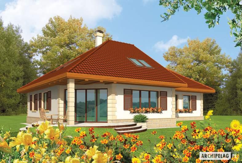 Projekt domu Fifi G1 - wizualizacja ogrodowa