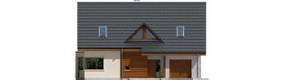 Projekt domu Demi G1 (wersja A) - elewacja frontowa