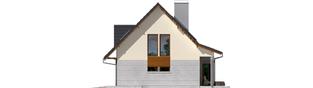 Projekt domu Demi G1 (wersja A) - elewacja prawa