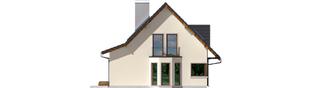 Projekt domu Demi G1 (wersja A) - elewacja lewa