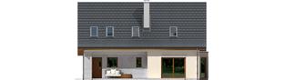 Projekt domu Demi G1 (wersja A) - elewacja tylna