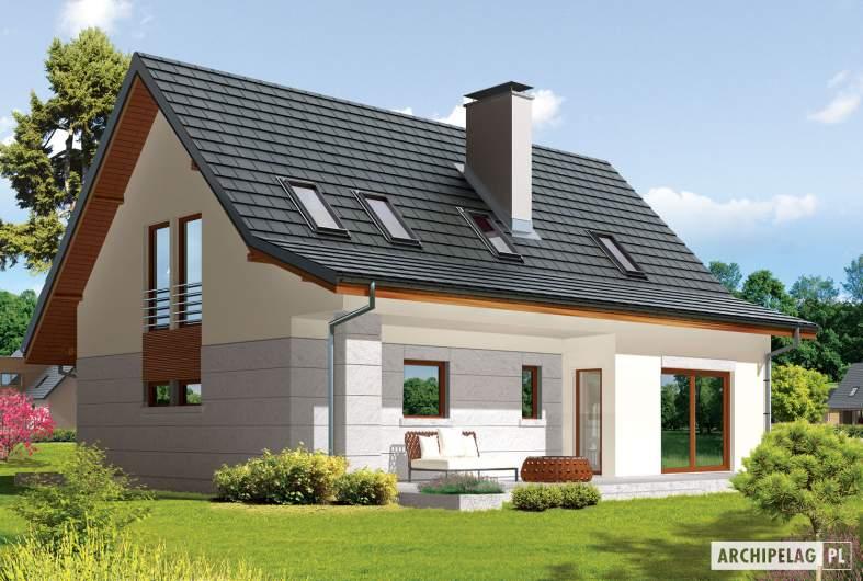 Projekt domu Demi G1 (wersja A) - wizualizacja ogrodowa
