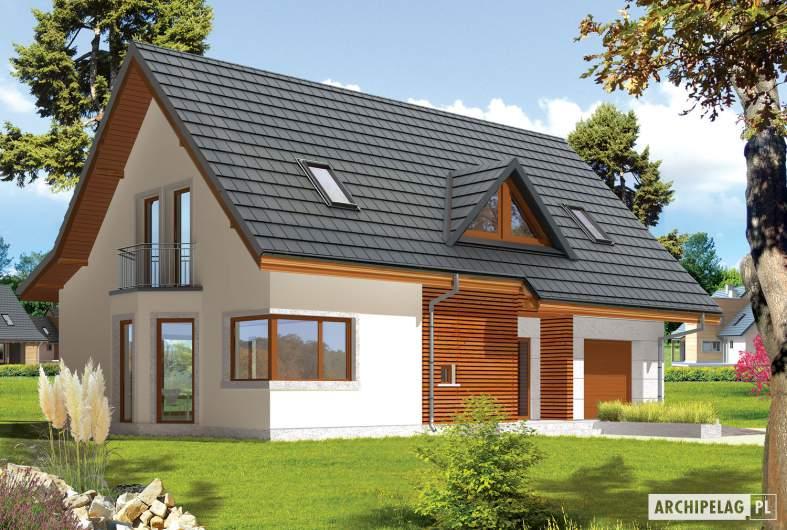Projekt domu Demi G1 (wersja A) - Demi G1 (wersja A) - wizualizacja frontowa