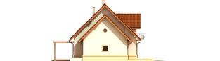 Projekt domu Kajka G1 Leca® DOM  - elewacja lewa